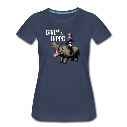 Girlonahippo womens tee - Women's Premium T-Shirt