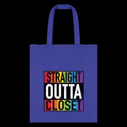 Straight Outta Closet Funny LGBT Pride - Tote Bag