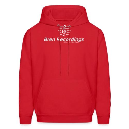 Bren Recordings Hoodie (Red/White) - Men's Hoodie