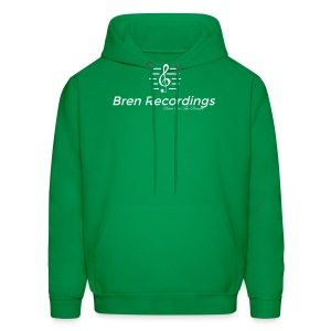 Bren Recordings (Green/White) - Men's Hoodie