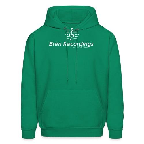 Bren Recordings (Green/White) - Men's Hoodie