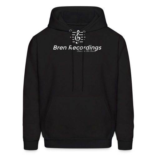 Bren Recordings Hoodie (Black/White) - Men's Hoodie