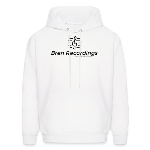 Bren Recordings Hoodie (White/Black) - Men's Hoodie