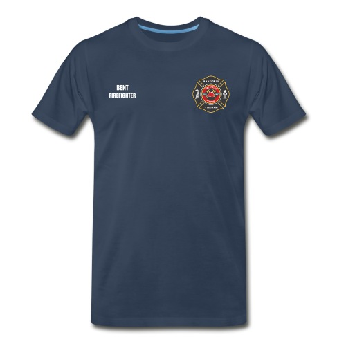 RVFD Firefighter Big & Tall Custom Tee - Name and Position on Chest - Men's Premium T-Shirt