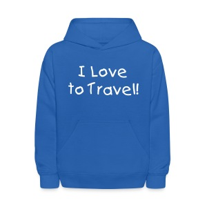 I love to travel! - Kids' Hoodie