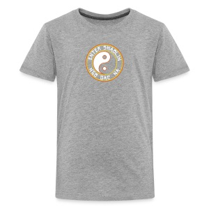 Enter Shaolin Kids T-Shirt in Heather Gray (ES + Ngo Dac Na in White Lettering) - Kids' Premium T-Shirt
