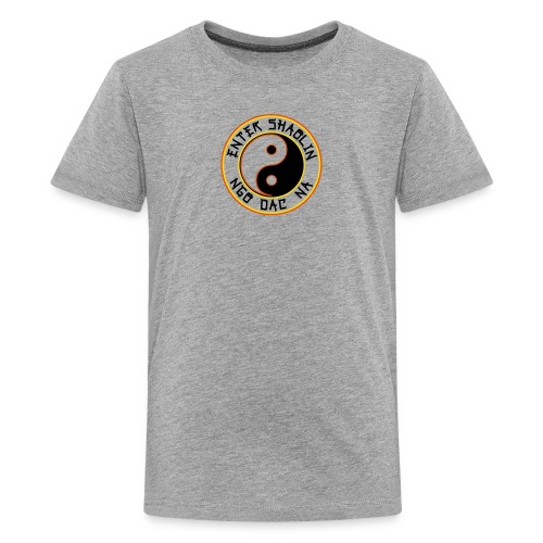 Enter Shaolin Kids T-Shirt in Heather Gray (ES + Ngo Dac Na in Black Lettering) - Kids' Premium T-Shirt