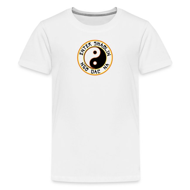 Enter Shaolin Kids T-Shirt in White (ES + Ngo Dac Na)