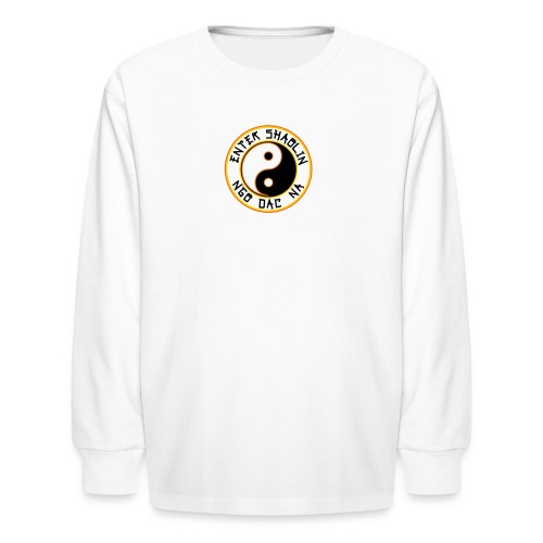 Enter Shaolin Kids Long Sleeve T-Shirt in White (Front Logo) - Kids' Long Sleeve T-Shirt