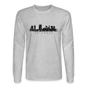 Columbus Skyline Longsleeve T-Shirt - Men's Long Sleeve T-Shirt