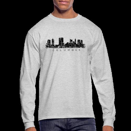 Columbus Skyline Longsleeve T-Shirt - Men's Long Sleeve T-Shirt