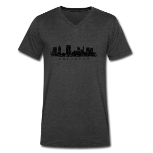 Columbus Skyline V Neck T-Shirt - Men's V-Neck T-Shirt by Canvas