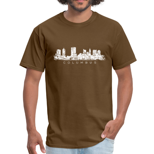 Columbus, Ohio Skyline Vintage White