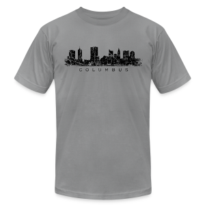 Columbus Skyline Men's T-Shirt - Men's T-Shirt by American Apparel