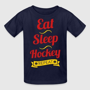 Eat Sleep Hockey Repeat Kids' Shirts - Kids' T-Shirt