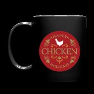 Mugs & Drinkware ~ Full Color Mug ~ Happy chicken holidays