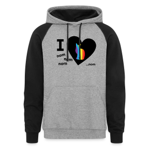 I Love Pussy Nom LGBT Funny Pride - Colorblock Hoodie