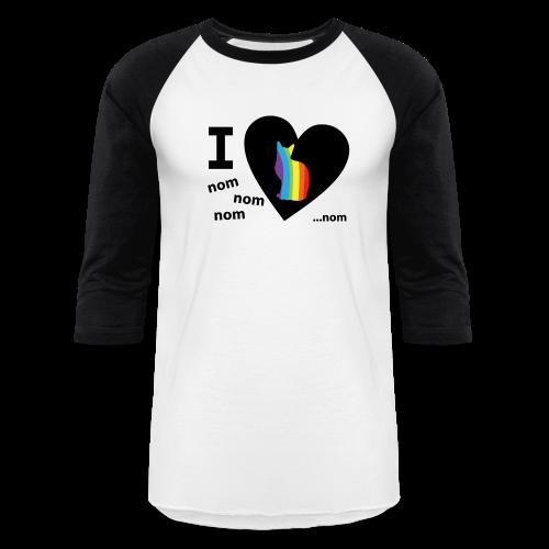 I Love Pussy Nom LGBT Funny Pride - Baseball T-Shirt