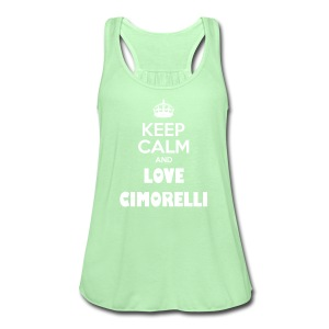Keep Calm and Love Cimorelli - Women's Flowy Tank Top by Bella