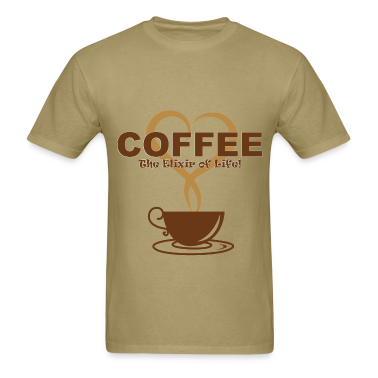 Coffee t shirt t shirt spreadshirt for How to get coffee out of shirt