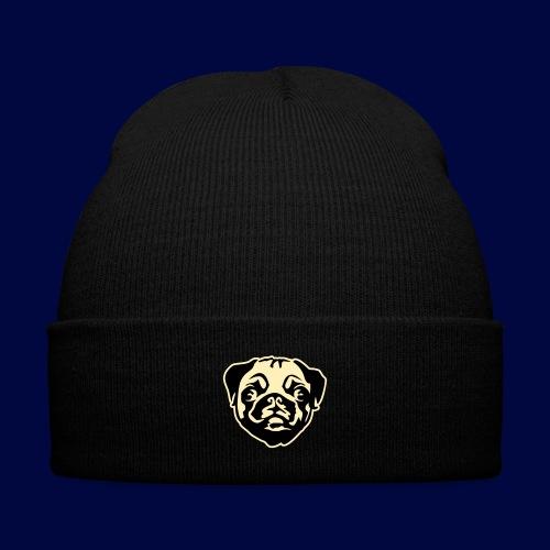 Pug Winter Hat - Knit Cap with Cuff Print