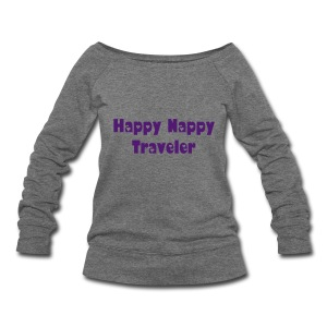 Happy Nappy Traveler - Women's Wideneck Sweatshirt