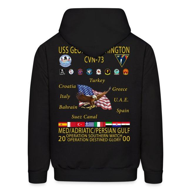 USS GEORGE WASHINGTON 2000 CRUISE HOODIE