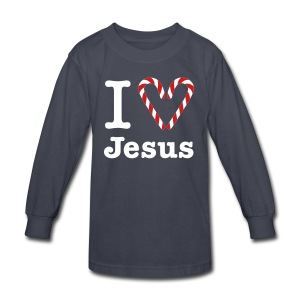 I Heart Jesus - Kids' Long Sleeve T-Shirt