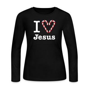 I Heart Jesus - Women's Long Sleeve Jersey T-Shirt