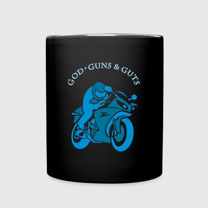 Motorcycle & god guns and guts (2c) - Full Color Mug