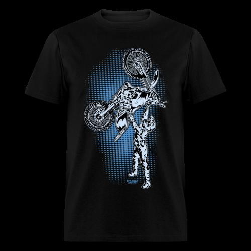 Blue Halftone Motocross - Men's T-Shirt