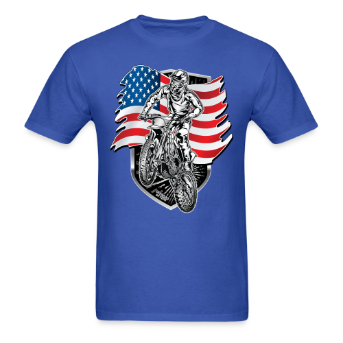 USA Flag Motocross - Men's T-Shirt