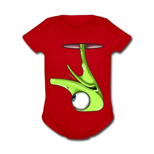 Funny Green Ostrich T-shirt - Short Sleeve Baby Bodysuit