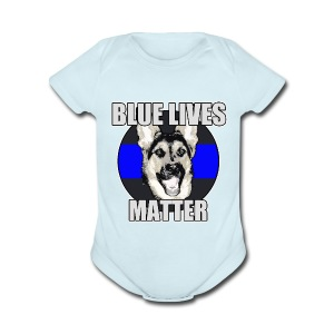 Blue lives matter - Short Sleeve Baby Bodysuit