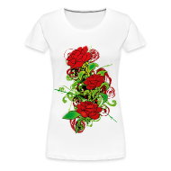 T-Shirts ~ Women's Premium T-Shirt ~ Colored_Roses