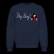 Long Sleeve Shirts ~ Crewneck Sweatshirt ~ Stay Zexy Line Crewneck - Unisex