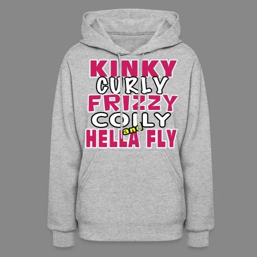 Kinky Curly Frizzy Hoodie - Women's Hoodie