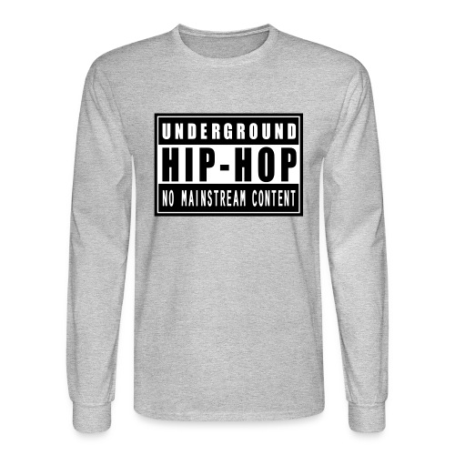 Underground Hip-Hop Long Sleeve Tee - Men's Long Sleeve T-Shirt