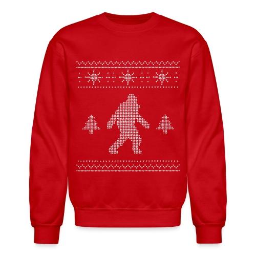 Women's Bigfoot Ugly Christmas Sweater - Crewneck Sweatshirt