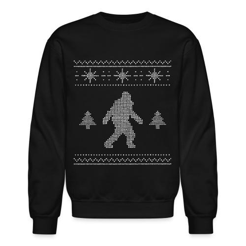 Men's Bigfoot Ugly Christmas Sweater - Crewneck Sweatshirt