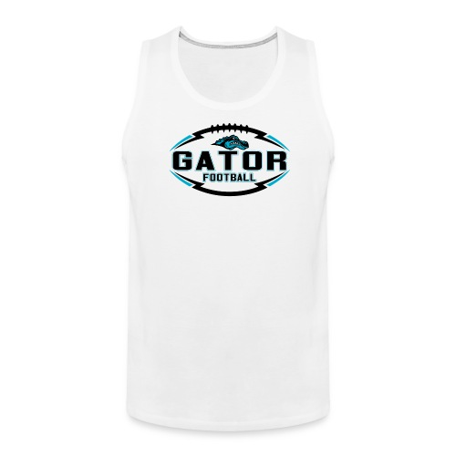 Men's UTS Gator 2 Tank Top - White - Men's Premium Tank