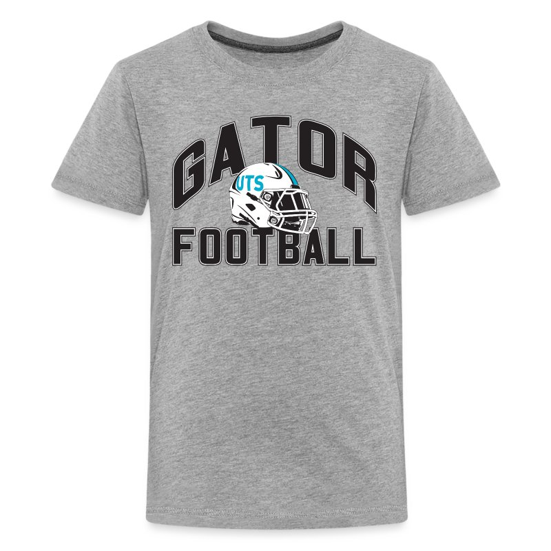 Kid's UTS Gator Football Premuim T-shirt - Gray - Kids' Premium T-Shirt
