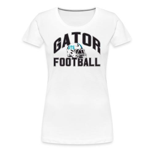 Women's UTS Gator Football Premuim T-shirt - White - Women's Premium T-Shirt