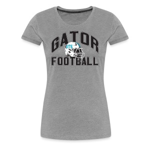 Women's UTS Gator Football Premuim T-shirt - Gray - Women's Premium T-Shirt