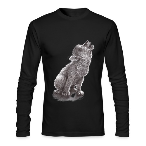 Funny Howling Wolf - Men's Long Sleeve T-Shirt by Next Level