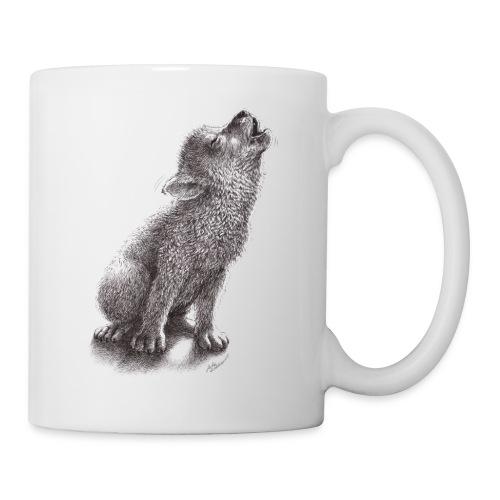 Funny Howling Wolf - Coffee/Tea Mug
