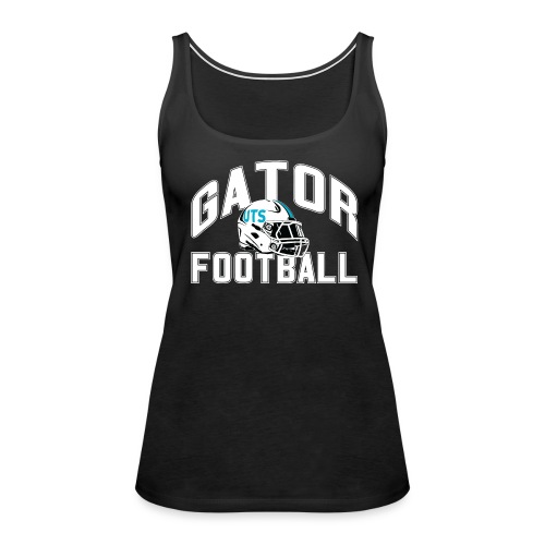 Women's UTS Gator Football Tank Top - Black - Women's Premium Tank Top