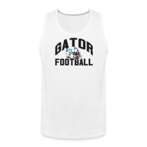 Men's UTS Gator Football Tank Top - White - Men's Premium Tank