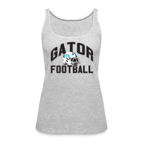 Women's UTS Gator Football Tank Top - Gray - Women's Premium Tank Top