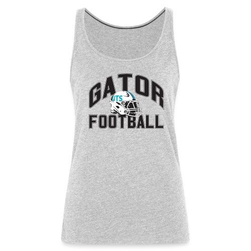 Women's UTS Gator Football Tank Top - Gray - Women's Premium Tank Top